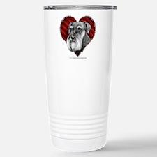 Schnauzer Valentine Stainless Steel Travel Mug