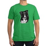 Border Collie Malcolm Men's Fitted T-Shirt (dark)