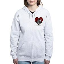 German Shepherd Heart Zip Hoody