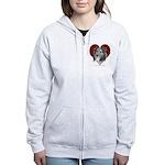 Sheltie Heart Women's Zip Hoodie
