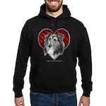 Sheltie Heart Hoodie (dark)