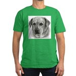 Lindsay - Yellow Lab Mix Men's Fitted T-Shirt (dar