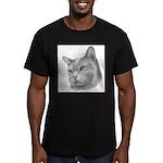 Burmese Cat Men's Fitted T-Shirt (dark)