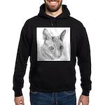 Cornish Rex Cat Hoodie (dark)