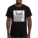 Cornish Rex Cat Men's Fitted T-Shirt (dark)