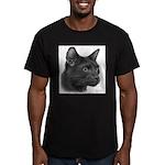 Havana Brown Cat Men's Fitted T-Shirt (dark)