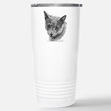 Russian Blue Cat Travel Mug