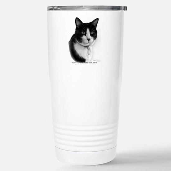 Tuxedo Cat Stainless Steel Travel Mug