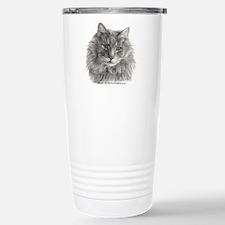 TG, Long-Haired Gray Cat Travel Mug