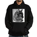 Tortoise Long-Hair Cat Hoodie (dark)