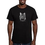 Tiger Cat Men's Fitted T-Shirt (dark)