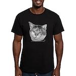 Calico Cat Men's Fitted T-Shirt (dark)