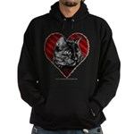 Kitty Heart Hoodie (dark)