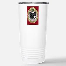Border Collie Christmas Stainless Steel Travel Mug