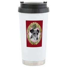 Fox Terrier Christmas Travel Mug
