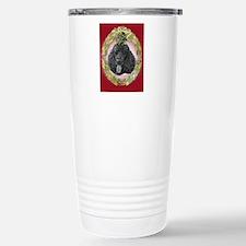 Black Poodle Christmas Travel Mug