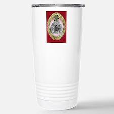 White Poodle Christmas Travel Mug