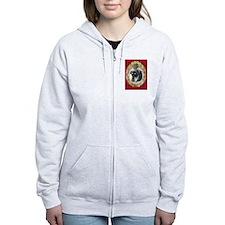 Rottweiler Christmas Zip Hoodie