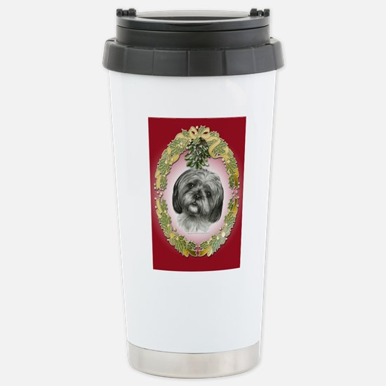 Shih Tzu Christmas Stainless Steel Travel Mug