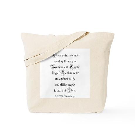 DEUTERONOMY 3:1 Tote Bag