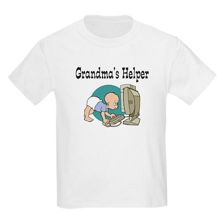 Grandma's Helper (Computer) Kids Light T-Shirt
