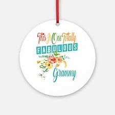 Fabulous Grammy Round Ornament