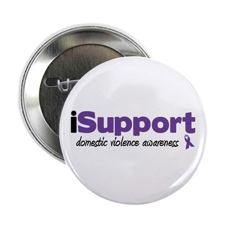 """iSupport Domestic Violence 2.25"""" Button"""