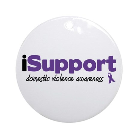 iSupport Domestic Violence Ornament (Round)