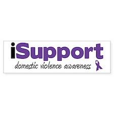 iSupport Domestic Violence Bumper Bumper Sticker