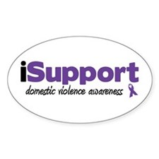 iSupport Domestic Violence Oval Sticker (10 pk)