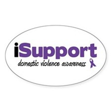 iSupport Domestic Violence Oval Decal