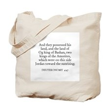 DEUTERONOMY  4:47 Tote Bag