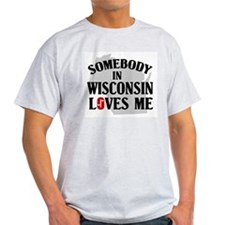Somebody In Wisconsin Ash Grey T-Shirt