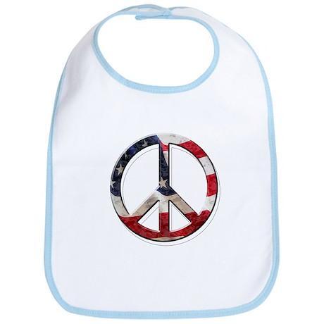 Peace flag Bib
