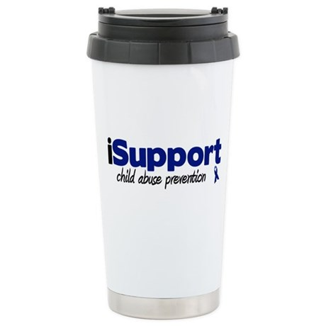 iSupport Child Abuse Stainless Steel Travel Mug