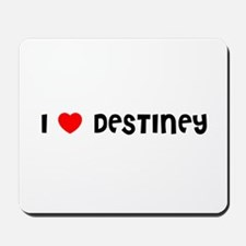 I LOVE DESTINEY Mousepad