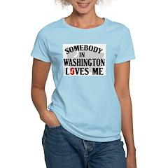 Somebody In Washington Women's Pink T-Shirt