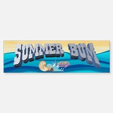 Summer Bum Bumper Bumper Bumper Sticker
