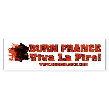 Burn France Bumper Sticker
