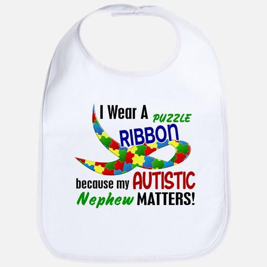 I Wear Puzzle Ribbon Nephew 33 Bib