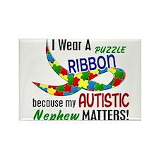 I Wear Puzzle Ribbon Nephew 33 Rectangle Magnet