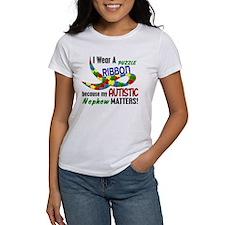 I Wear Puzzle Ribbon Nephew 33 Tee
