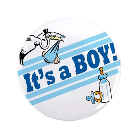 "It's A Boy! 3.5"" Button"