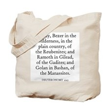 DEUTERONOMY  4:43 Tote Bag