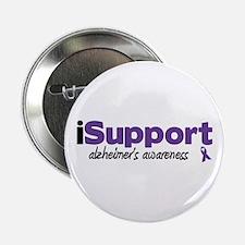 """iSupport Alzheimers 2.25"""" Button"""