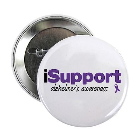 """iSupport Alzheimers 2.25"""" Button (10 pack)"""