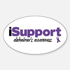 iSupport Alzheimers Oval Decal