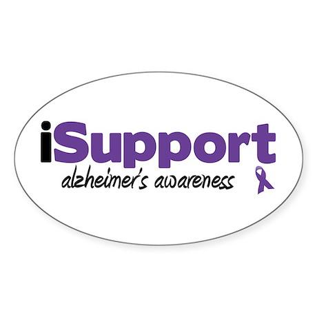 iSupport Alzheimers Oval Sticker