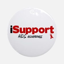iSupport AIDS Ornament (Round)