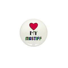 LOVE MY MASTIFF Mini Button (100 pack)
